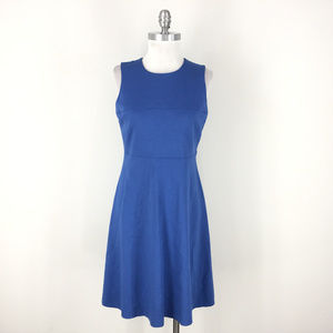Anne Klein S 6 Blue Ponte A line dress Sleeveless